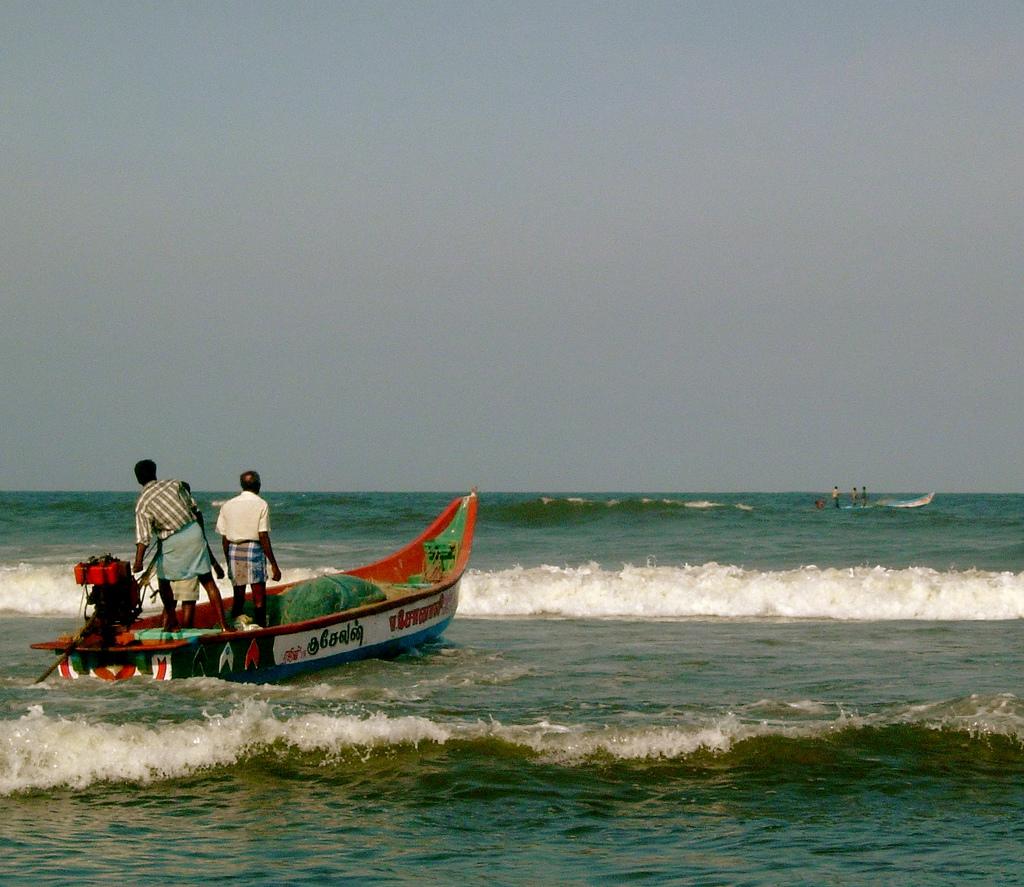 Angling in Mahabalipuram