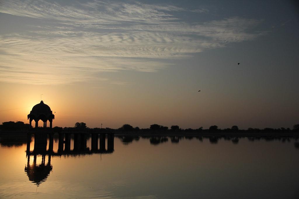 Boating at Gadisar Lake