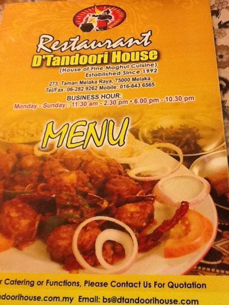 Restaurant D' Tandoori House