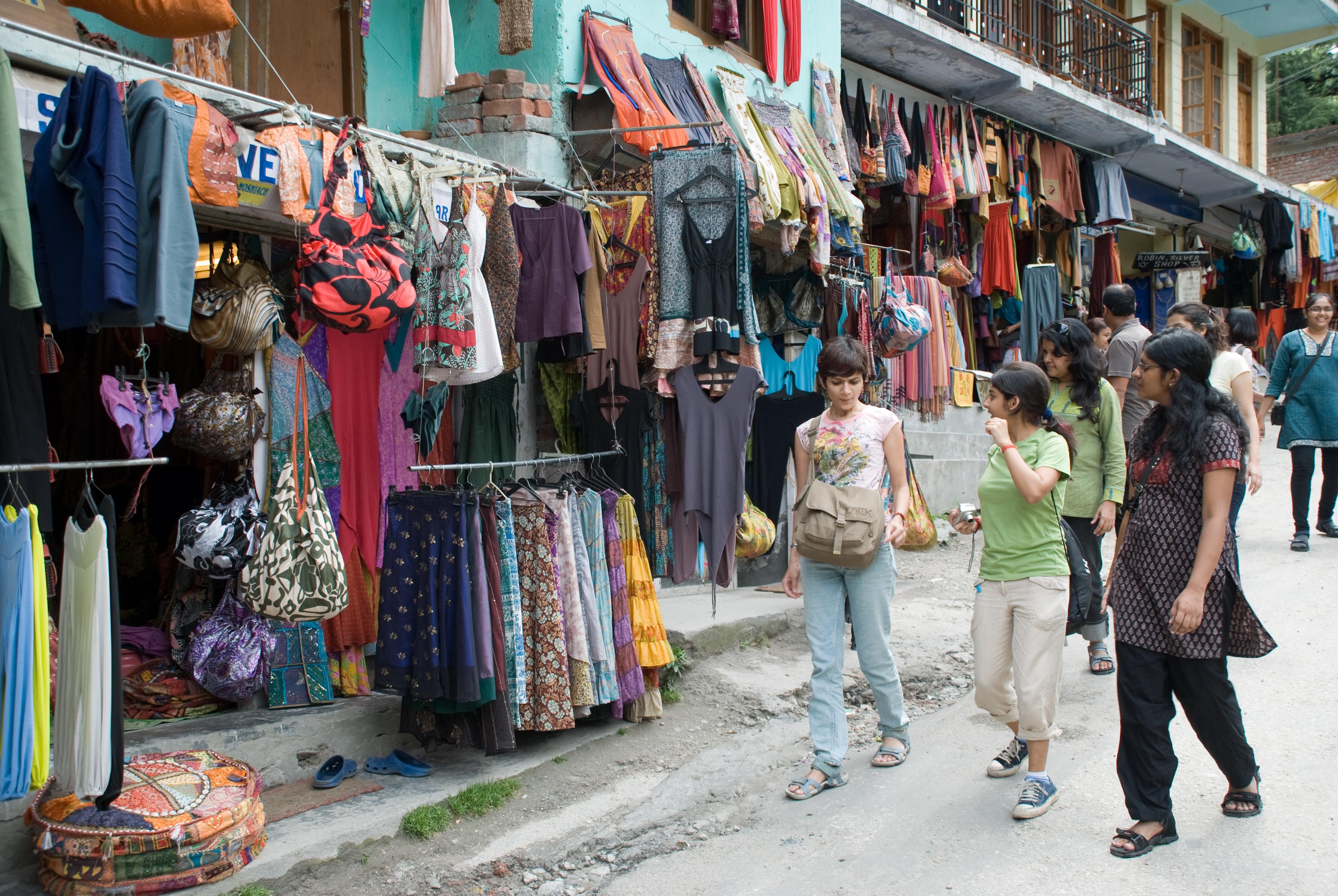 Shopping at Old Manali