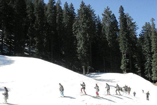 Skiing at Solang