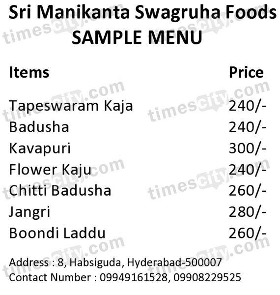 Sri Manikanta Swagruha Foods