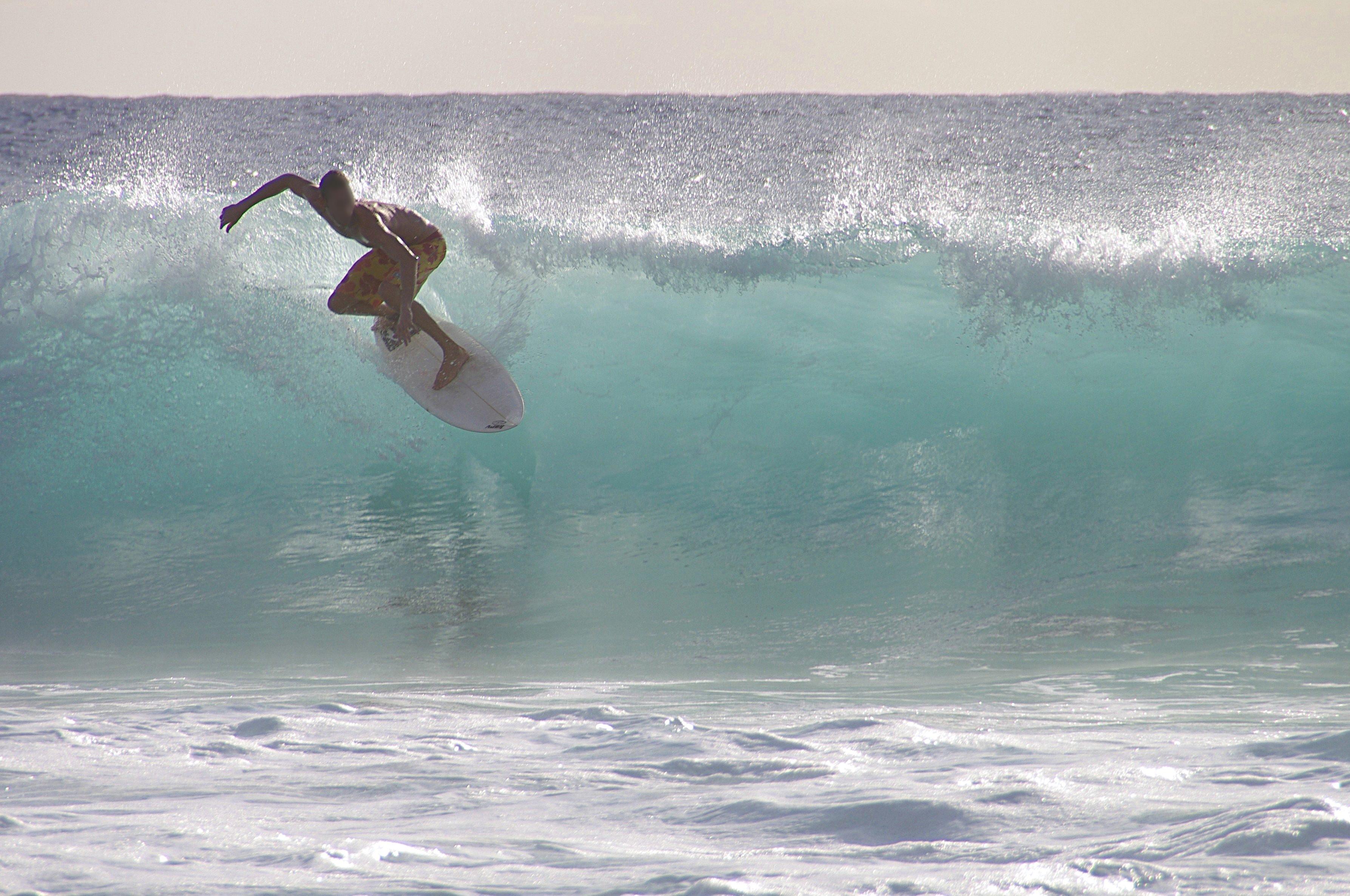 Surfing at Arambol beach