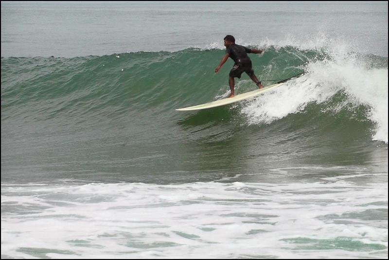 Surfing in Mahabalipuram