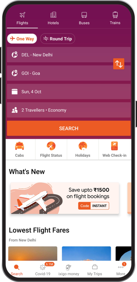 ixigo Flight App
