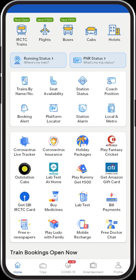 ixigo Train App