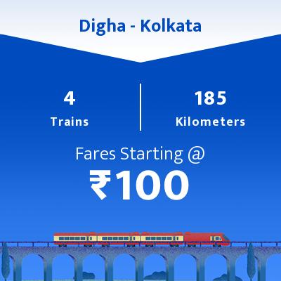 4 Digha to Kolkata Train Time Table, Seat Availability, Route, Train