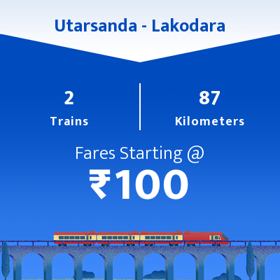 Utarsanda To Lakodara Trains