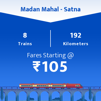 Madan Mahal To Satna Trains