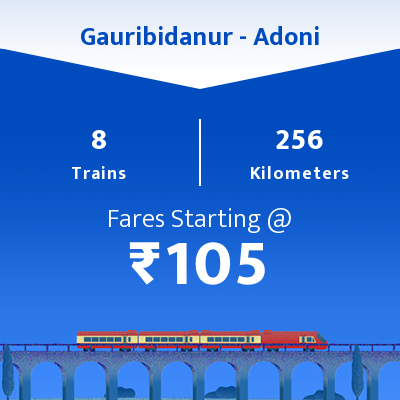 Gauribidanur To Adoni Trains