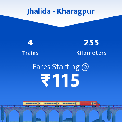 Jhalida To Kharagpur Trains