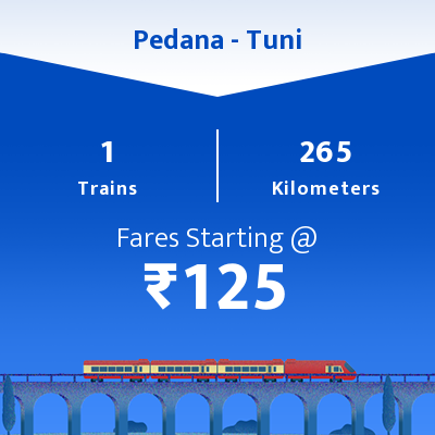 Pedana To Tuni Trains