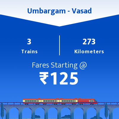 Umbargam To Vasad Trains