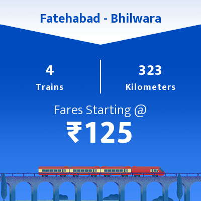 Fatehabad To Bhilwara Trains