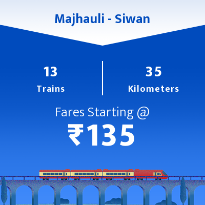 Majhauli To Siwan Trains