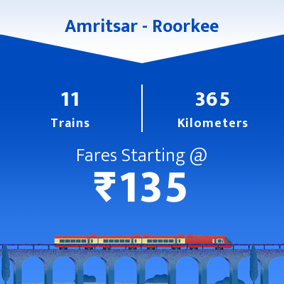 Amritsar To Roorkee Trains