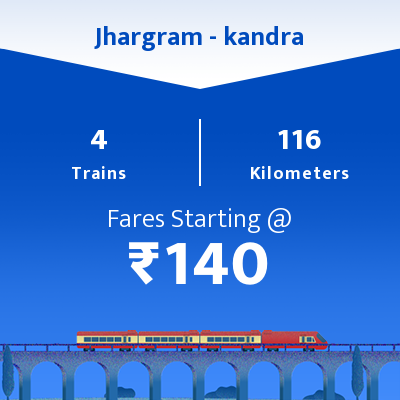 Jhargram To kandra Trains