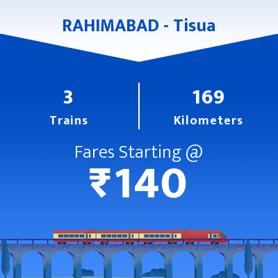 RAHIMABAD   To Tisua Trains