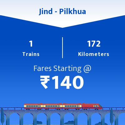 Jind To Pilkhua Trains