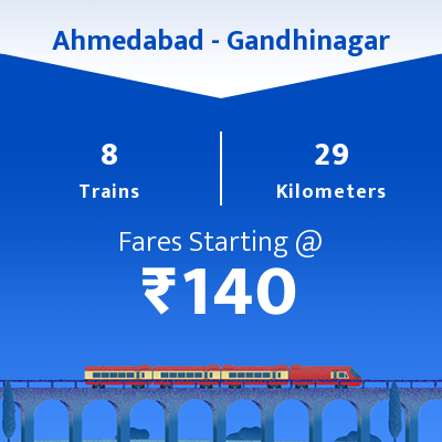 Ahmedabad To Gandhinagar Trains
