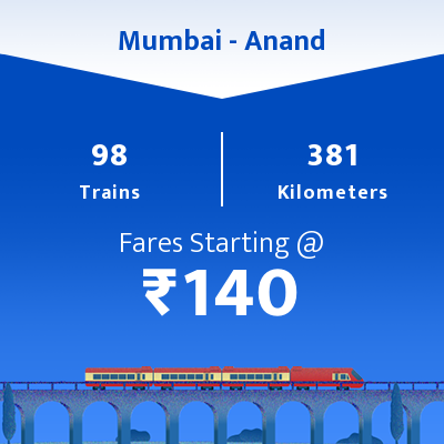Mumbai To Anand Trains