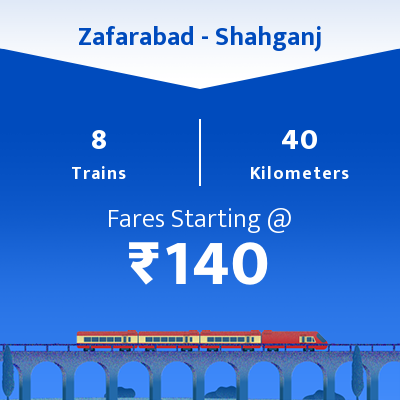Zafarabad To Shahganj Trains