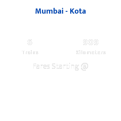 Mumbai To Kota Trains