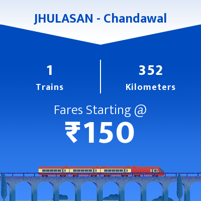 JHULASAN To Chandawal Trains