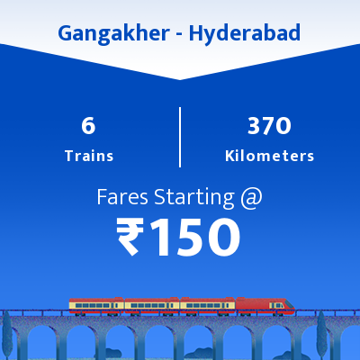 Gangakher To Hyderabad Trains