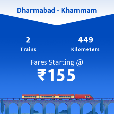 Dharmabad To Khammam Trains