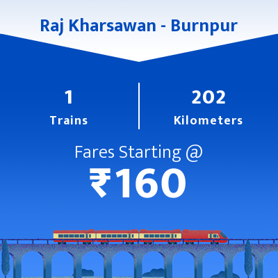 Raj Kharsawan To Burnpur Trains