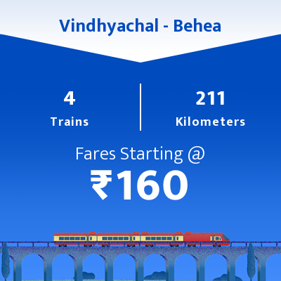 Vindhyachal To Behea Trains