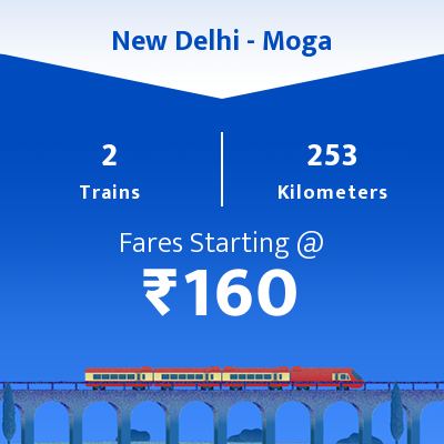 New Delhi To Moga Trains