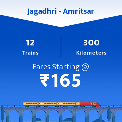Jagadhri To Amritsar Trains