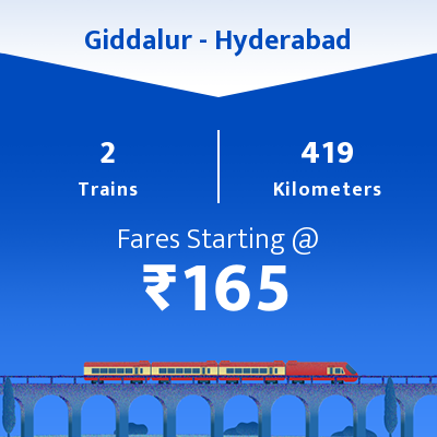 Giddalur To Hyderabad Trains