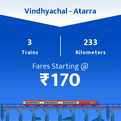 Vindhyachal To Atarra Trains
