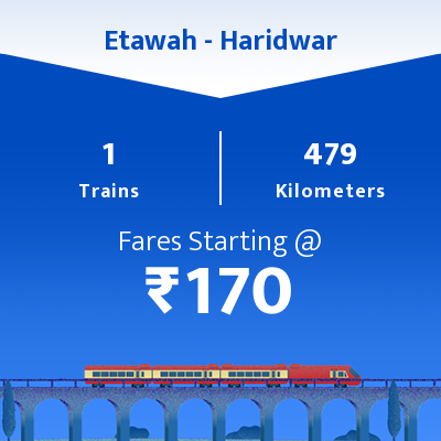 Etawah To Haridwar Trains