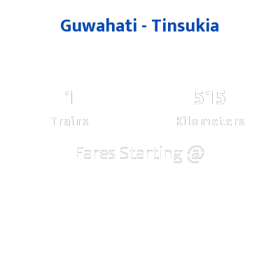 Guwahati To Tinsukia Trains