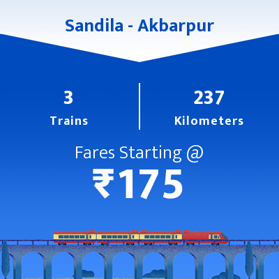 Sandila To Akbarpur Trains