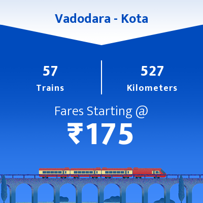 Vadodara To Kota Trains