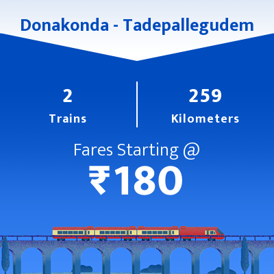 Donakonda To Tadepallegudem Trains