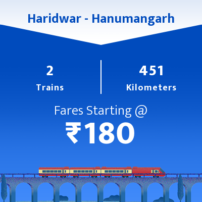 Haridwar To Hanumangarh Trains