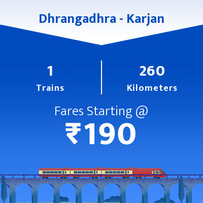 Dhrangadhra To Karjan Trains