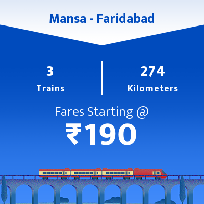 Mansa To Faridabad Trains