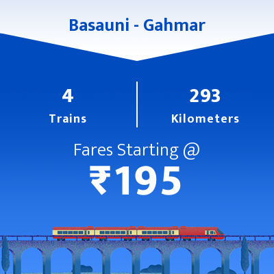 Basauni To Gahmar Trains