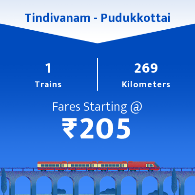 Tindivanam To Pudukkottai Trains