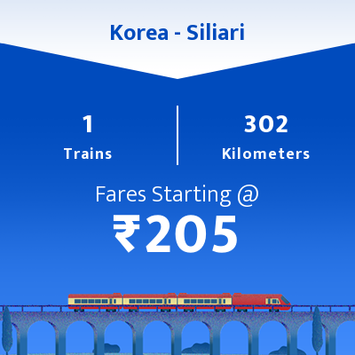 Korea To Siliari Trains