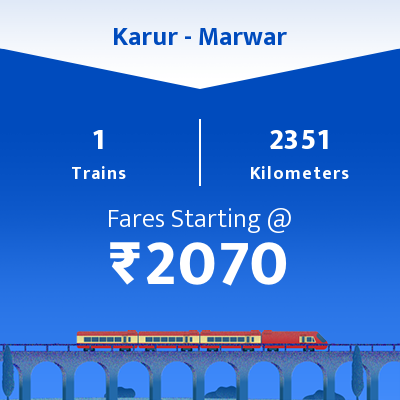 Karur To Marwar Trains