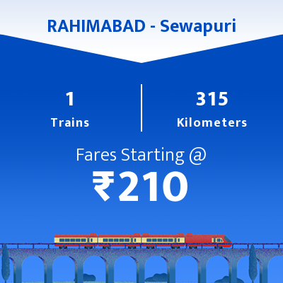 RAHIMABAD   To Sewapuri Trains
