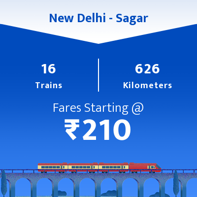 New Delhi To Sagar Trains